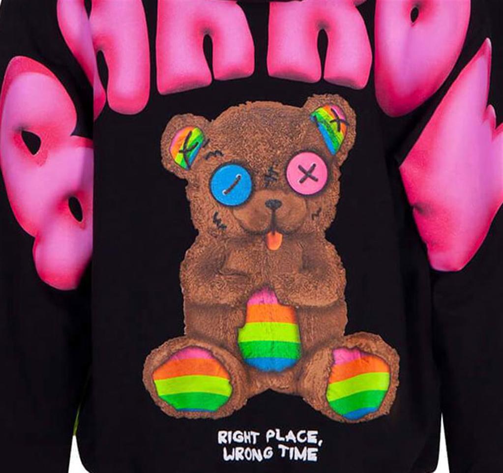 Barrow - Felpe - hoodie nera con cappuccio e stampa logo 2