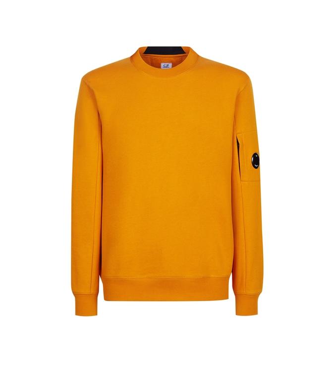 C.P. COMPANY - Felpe - diagonal raised fleece sweatshirt desert sun