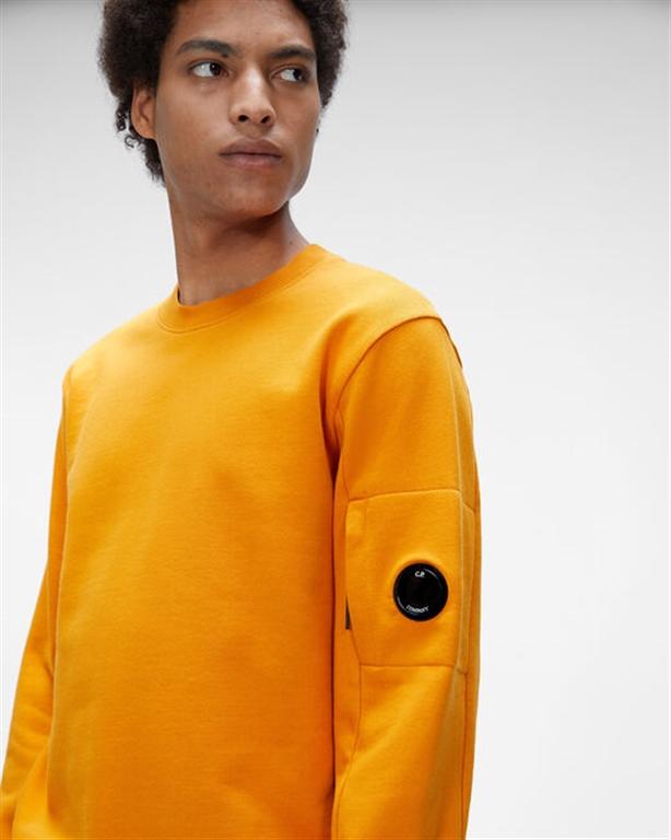 C.P. COMPANY - Felpe - diagonal raised fleece sweatshirt desert sun 2