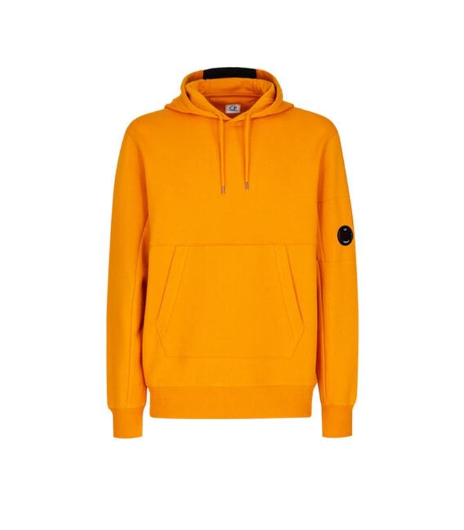 C.P. COMPANY - Felpe - diagonal raised fleece hoodie desert sun