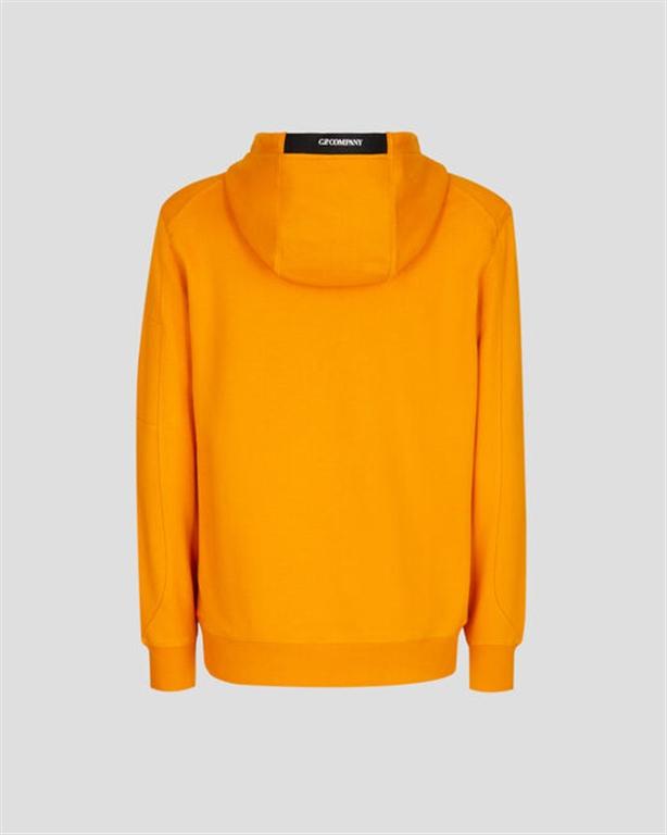C.P. COMPANY - Felpe - diagonal raised fleece hoodie desert sun 1