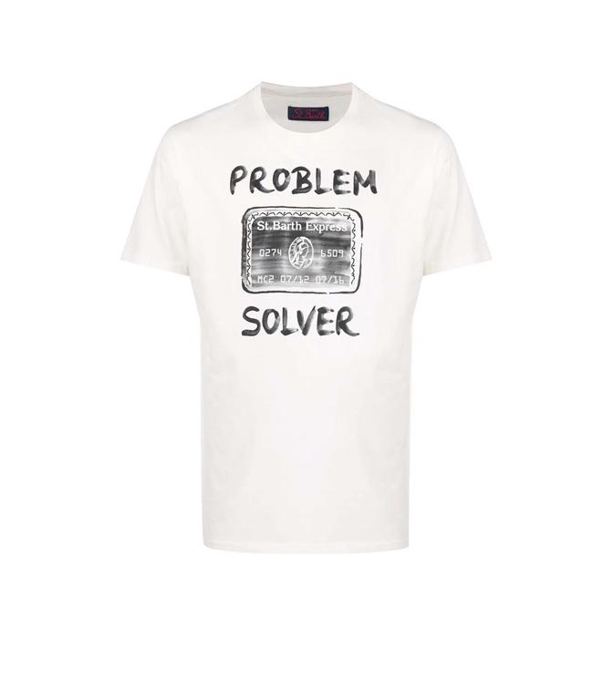 Mc2 Saint Barth - T-Shirt - TSHIRT PROBLEM SOLVER BIANCO