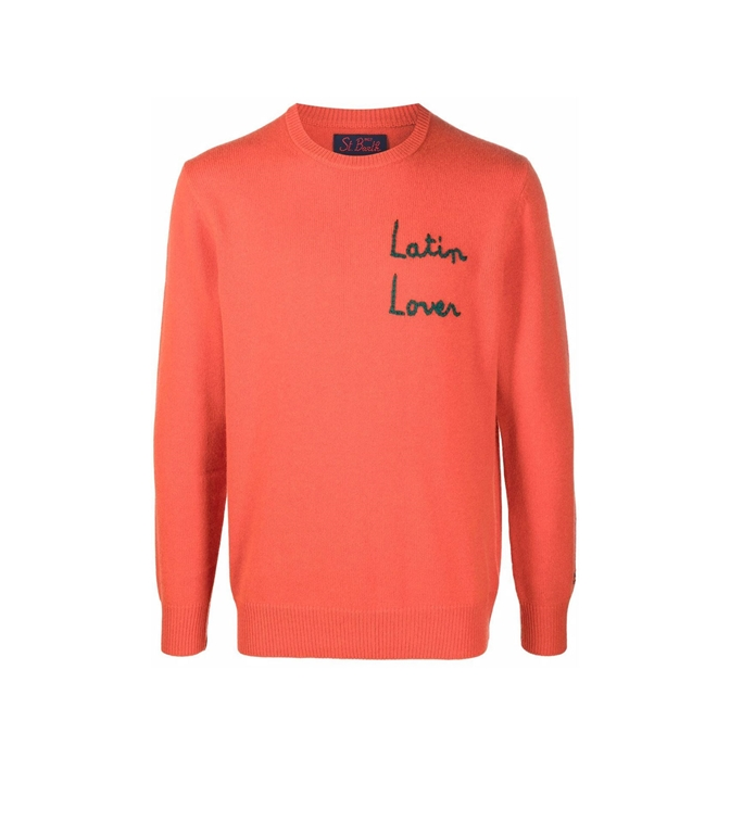 Mc2 Saint Barth - Maglie - maglione latin lover con stampa arancione