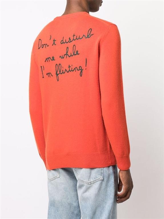 Mc2 Saint Barth - Maglie - maglione latin lover con stampa arancione 1