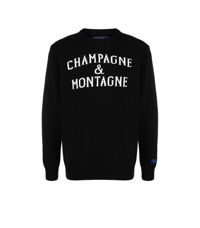 Mc2 Saint Barth - Maglie - MAGLIONE CHAMPAGNE E MONTAGNE NERO