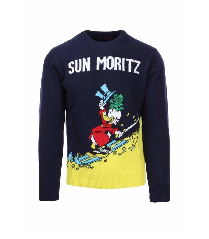 Mc2 Saint Barth - Maglie - MAGLIA HERON SUN MORITZ BLU