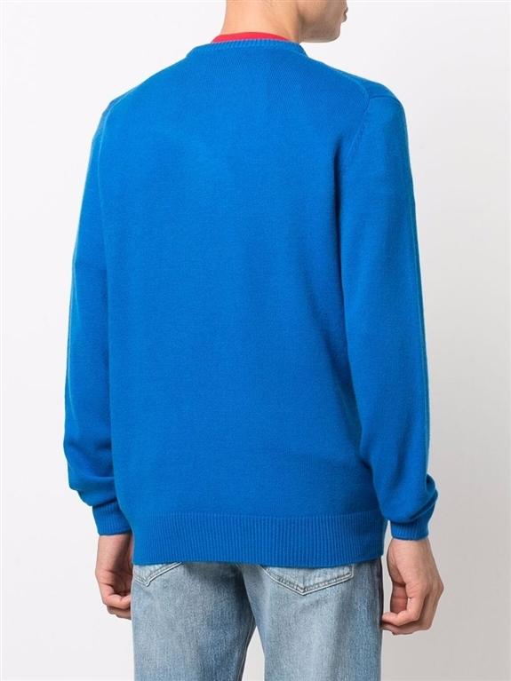 Mc2 Saint Barth - Maglie - maglione snoopy winter mood con stampa bluette 1