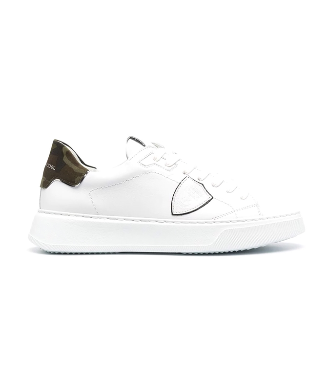 Philippe Model Paris - Scarpe - Sneakers - TEMPLE VEAU CAMOUFLAGE - BLANC MILITAIRE