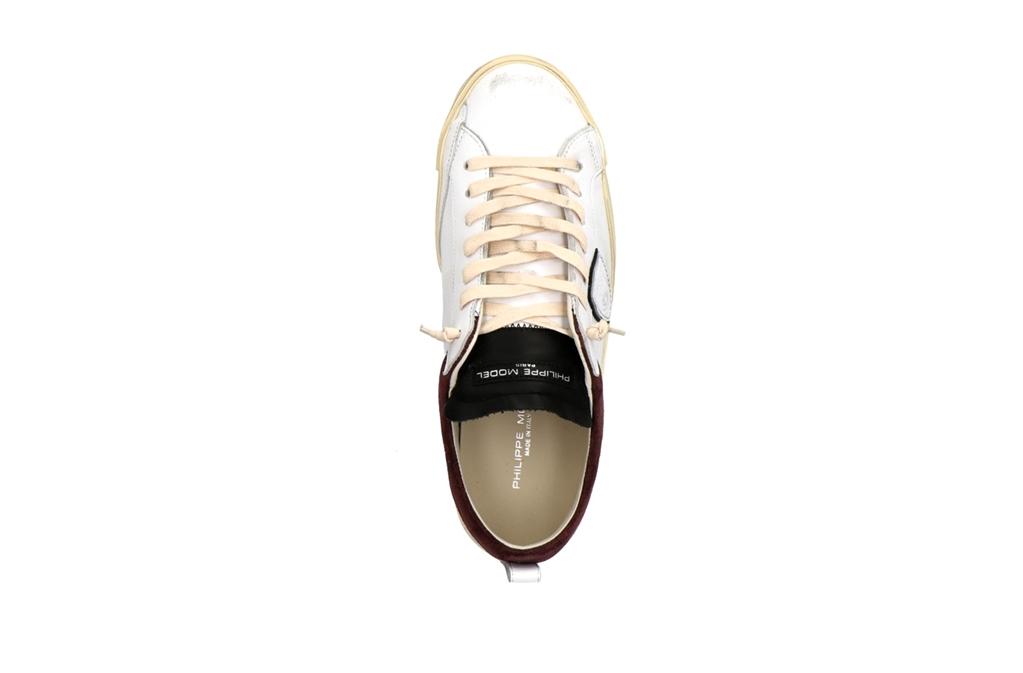 Philippe Model Paris - Scarpe - Sneakers - prsx daim collier - blanc bordeaux 1