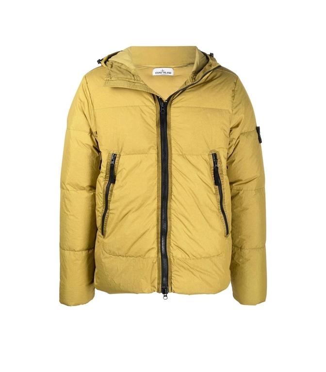 Stone Island - Giubbotti - garment dyed crinkle reps ny down-tc beige scuro