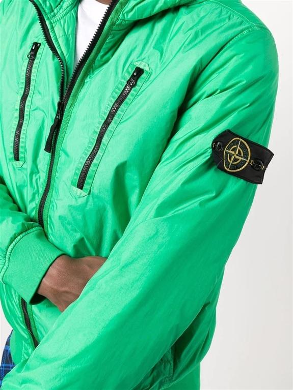 Stone Island - Giubbotti - garment dyed crinkle reps ny con primaloft-tc verde 2