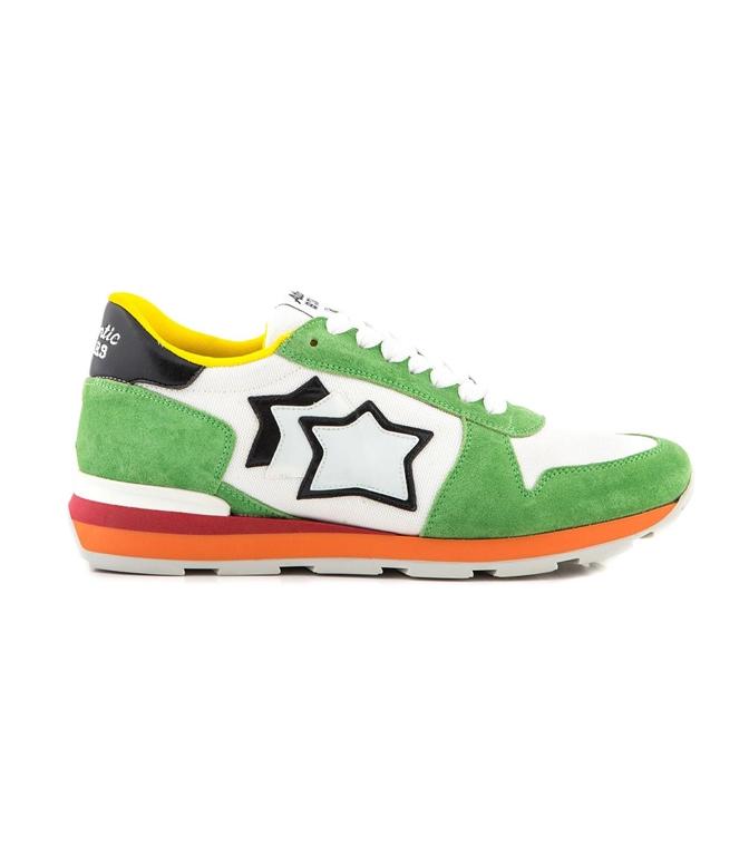 Atlantic Stars - Scarpe - Sneakers - SNEAKERS SIRIUS IN SUEDE WHITE/GREEN