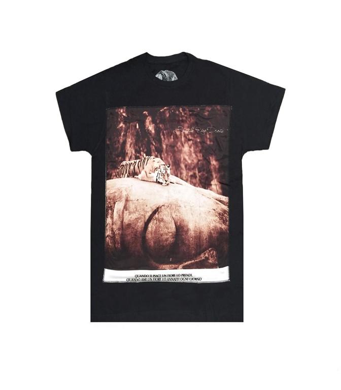 Bastille - T-Shirt - t-shirt con stampa seta tiger nera