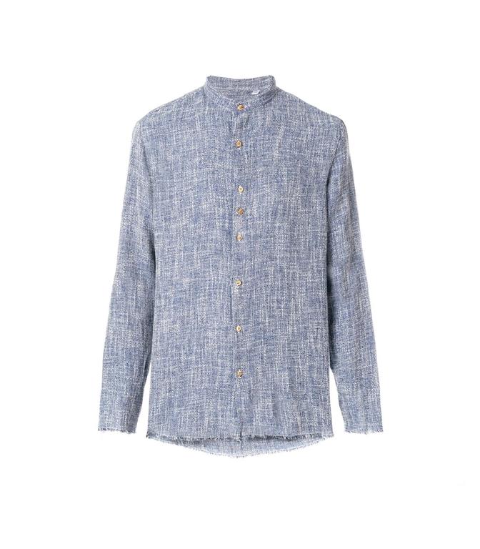 Costumein - Camicie - CAMICIA IN LINO CELESTE