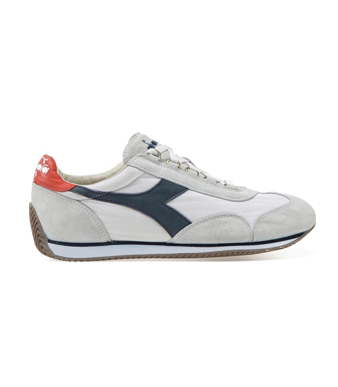 Diadora Heritage - Scarpe - Sneakers - EQUIPE STONE WASH 12 WHT/BLUE NIGHTS/HIGH RISK RED