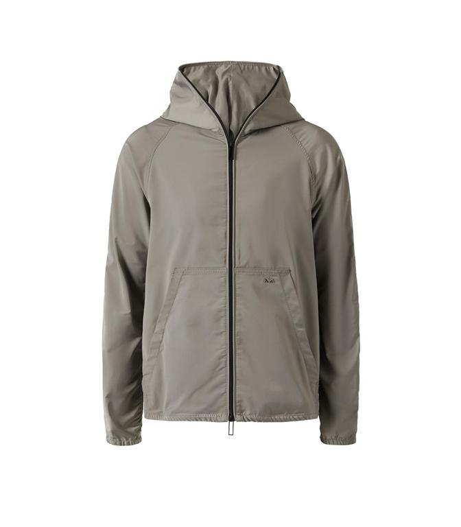 Emporio Armani - Giubbotti - giacca a vento in tessuto tecnico grey