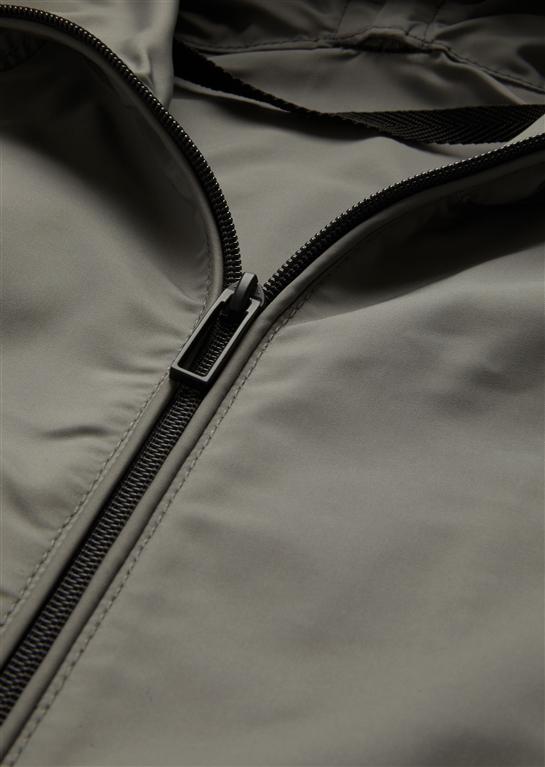 Emporio Armani - Giubbotti - giacca a vento in tessuto tecnico grey 1