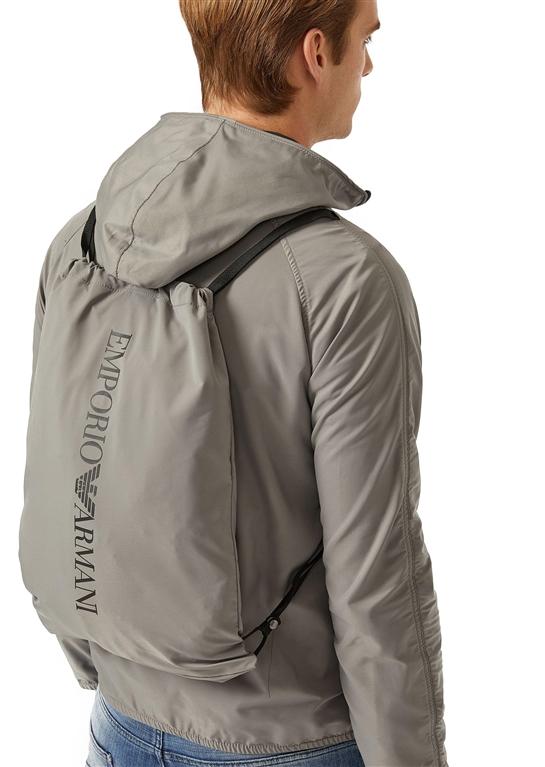 Emporio Armani - Giubbotti - giacca a vento in tessuto tecnico grey 2