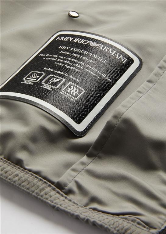 Emporio Armani - Giubbotti - giacca a vento in tessuto tecnico grey 3