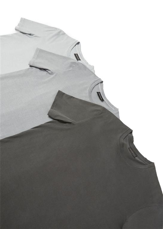 Emporio Armani - Saldi - set da 3 t-shirt in jersey di cotone grey 1