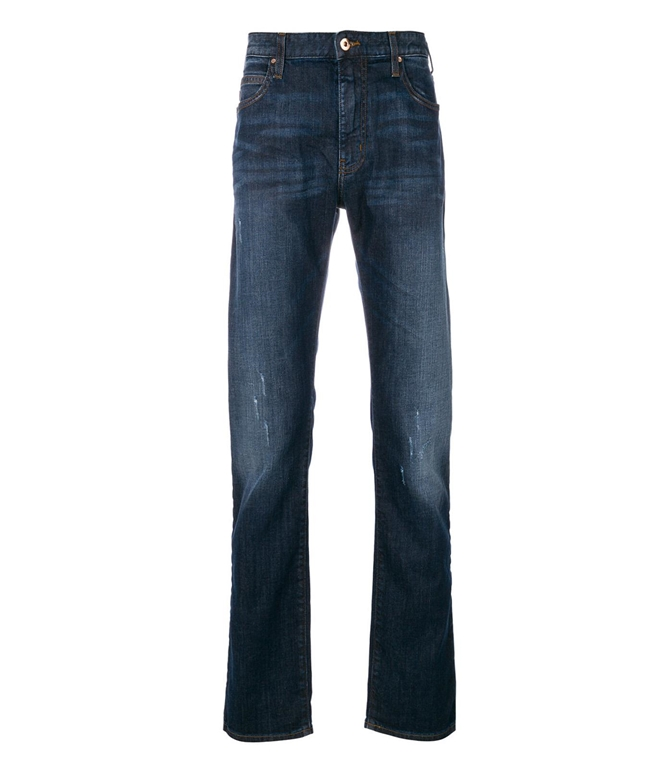 Emporio Armani - Jeans - JEANS J45 SLIM FIT IN DENIM STONE WASHED