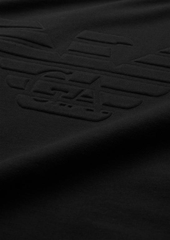 Emporio Armani - Saldi - felpa in cotone stretch con logo black 1
