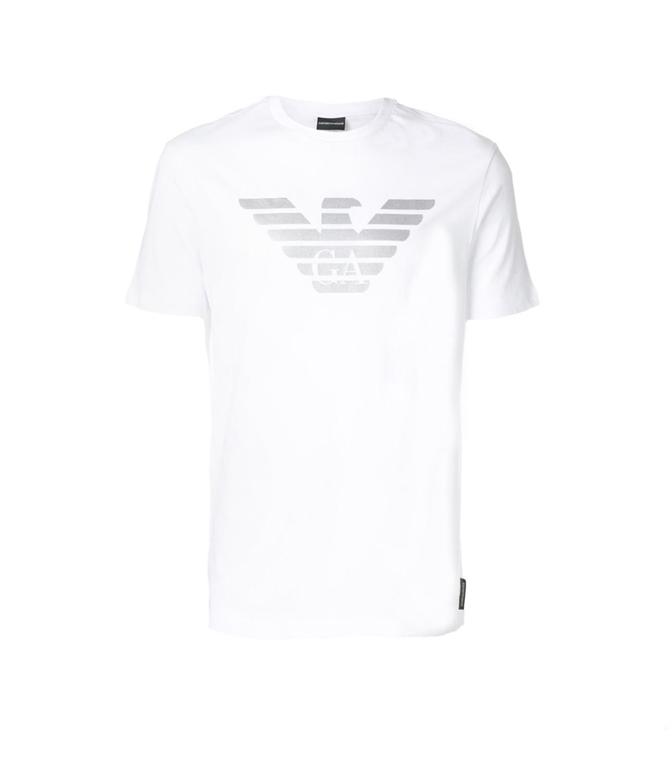 Emporio Armani - Saldi - t-shirt con logo white