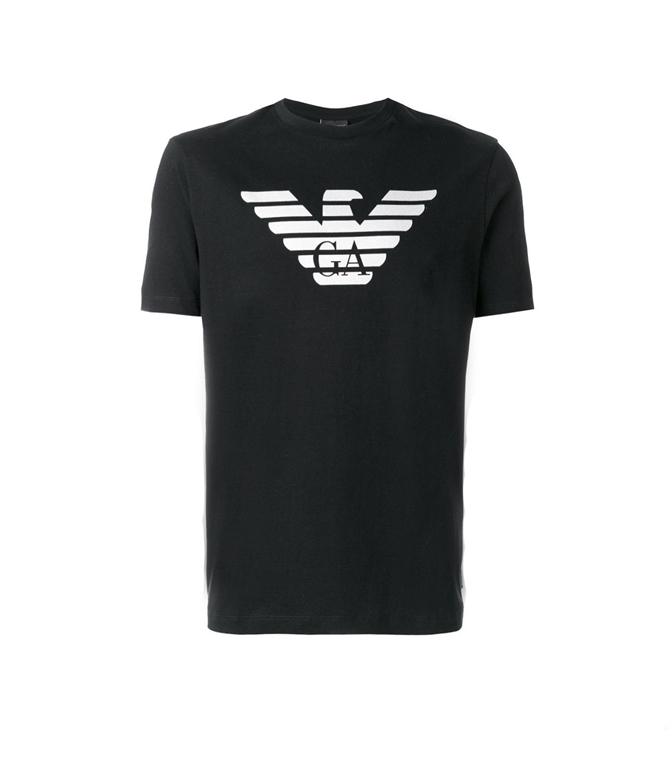Emporio Armani - T-Shirt - T-SHIRT CON LOGO BLACK