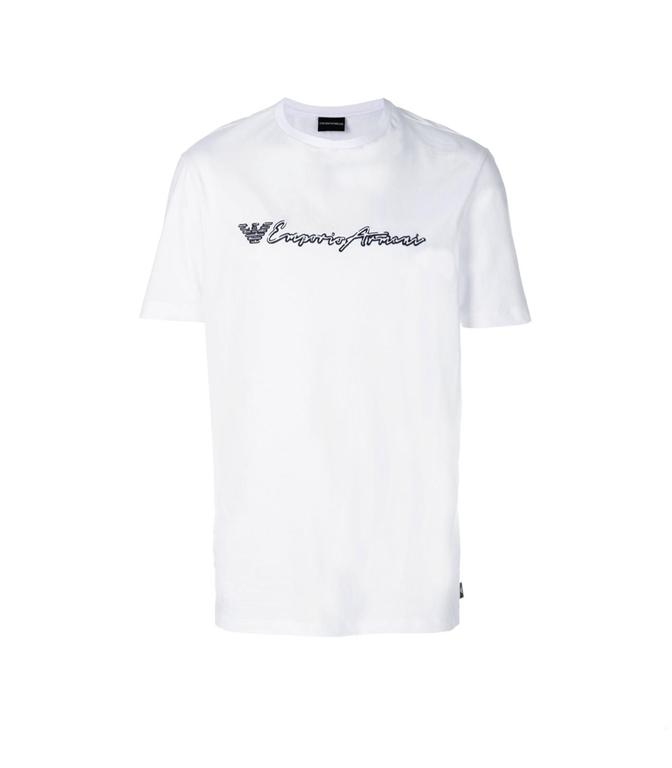 Emporio Armani - Saldi - T-SHIRT IN JERSEY DI COTONE WHITE