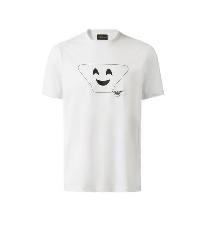 Emporio Armani - T-Shirt - T-SHIRT IN COTONE WHITE