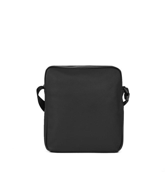 Emporio Armani - Borse - borsa a tracolla in similpelle martellata black 1