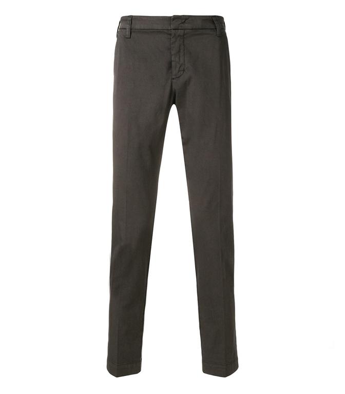 Entre Amis - Pantaloni - pantalone tasca america cotone corto con logo moro