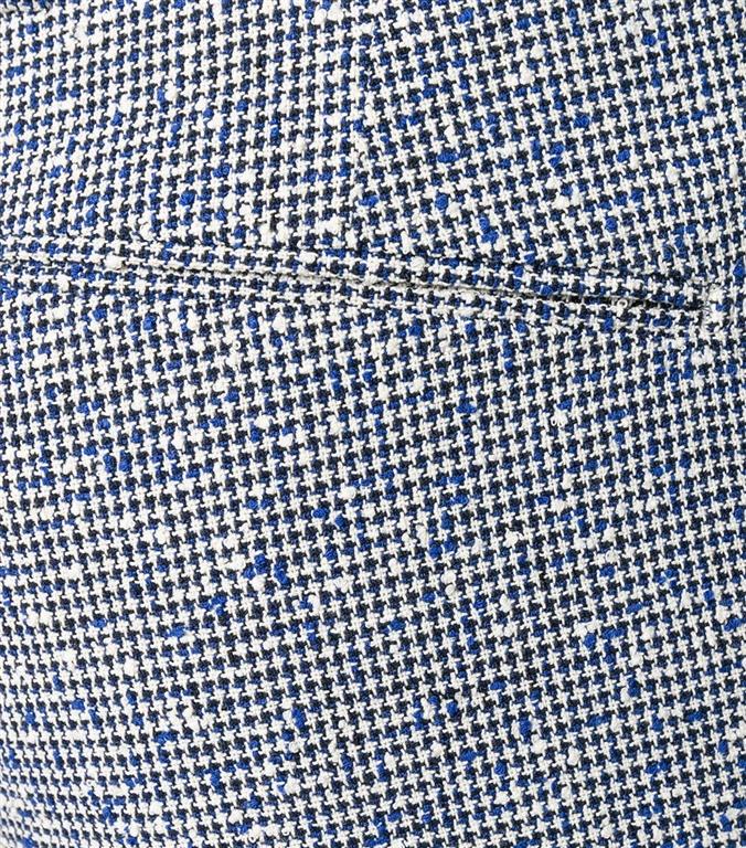Entre Amis - Pantaloni - pantalone t. america corto con micro ricamo blu 1