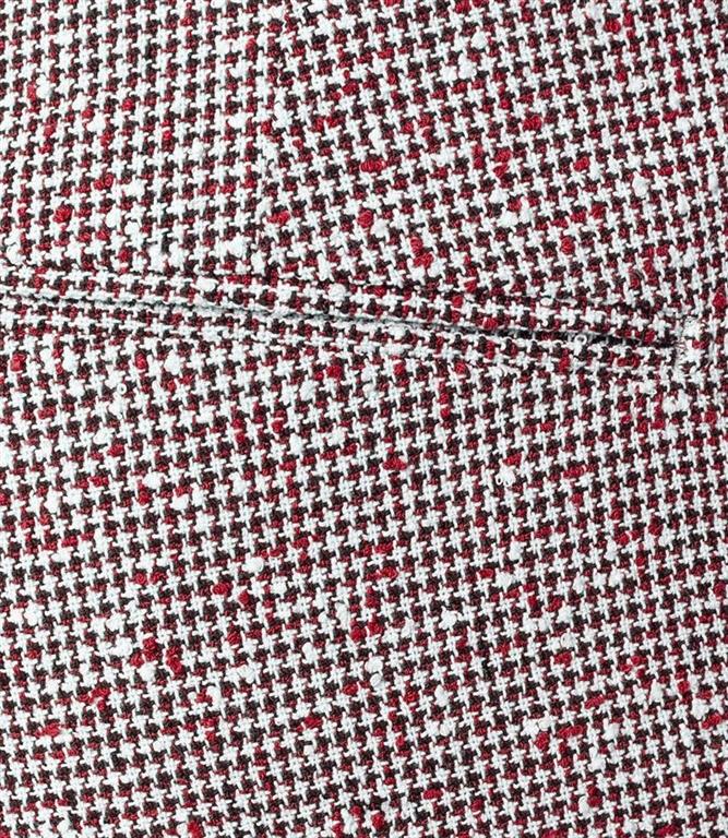 Entre Amis - Pantaloni - pantalone t. america corto con micro ricamo rosso 1