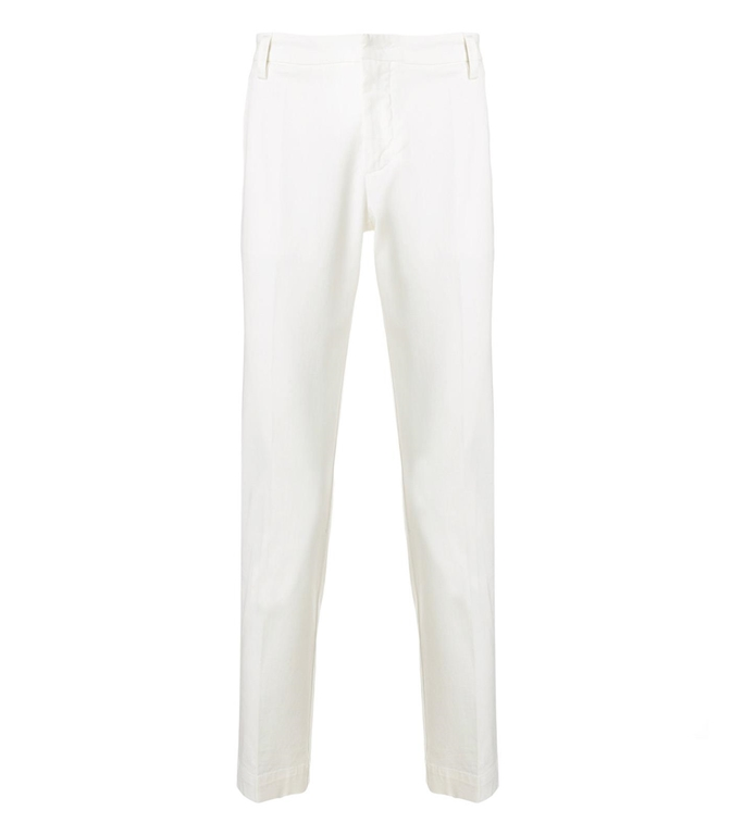 Entre Amis - Saldi - pantalone tasca america lungo con logo in tessuto panna