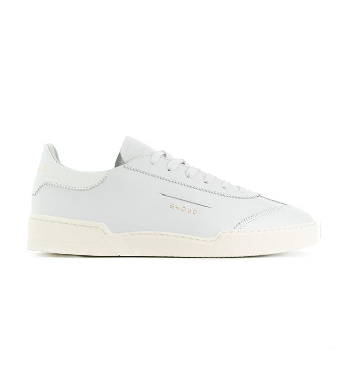 Ghoud - Scarpe - Sneakers - SNEAKER IN PELLE LISCIA WHITE/COCCO WHITE