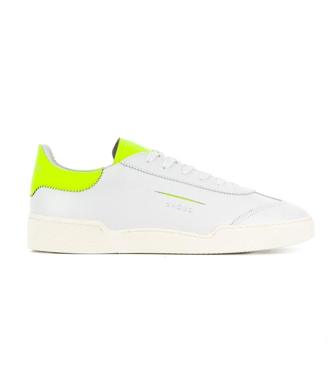 Ghoud - Scarpe - Sneakers - SNEAKER IN PELLE LISCIA WHITE/FLUO