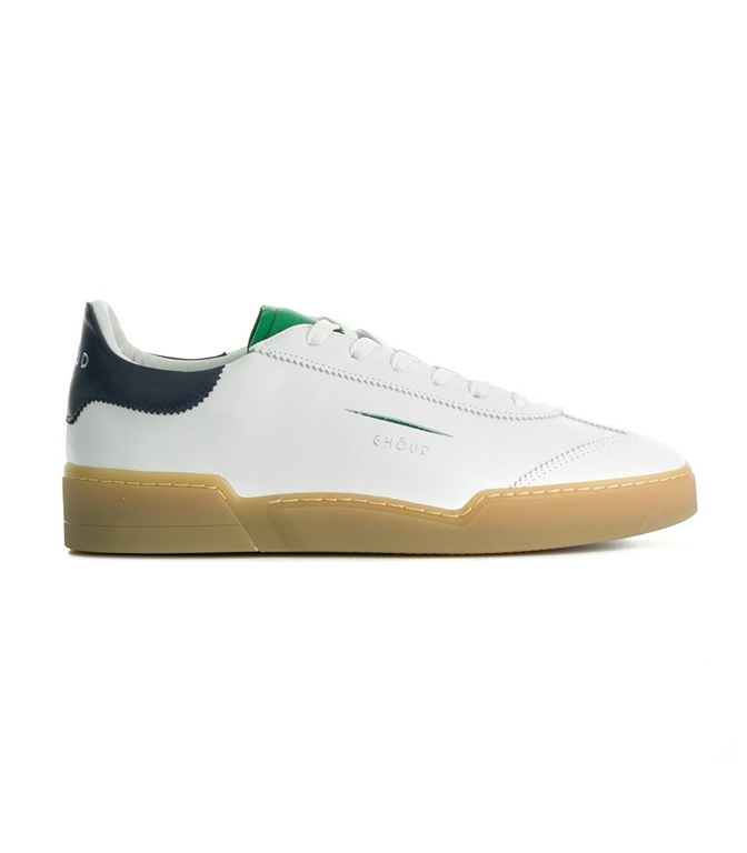 Ghoud - Saldi - SNEAKER IN PELLE LISCIA WHITE/GREEN/NAVY