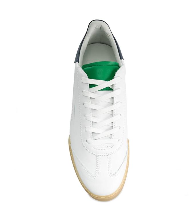 Ghoud - Scarpe - Sneakers - sneaker in pelle liscia white/green/navy 1