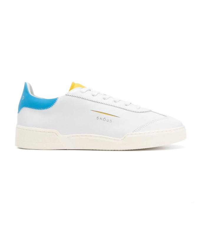 Ghoud - Scarpe - Sneakers - SNEAKER IN PELLE LISCIA WHITE/YELLOW/BLU