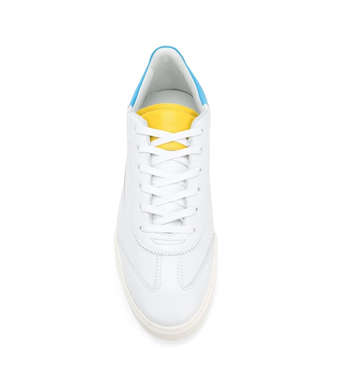 Ghoud - Scarpe - Sneakers - sneaker in pelle liscia white/yellow/blu 1