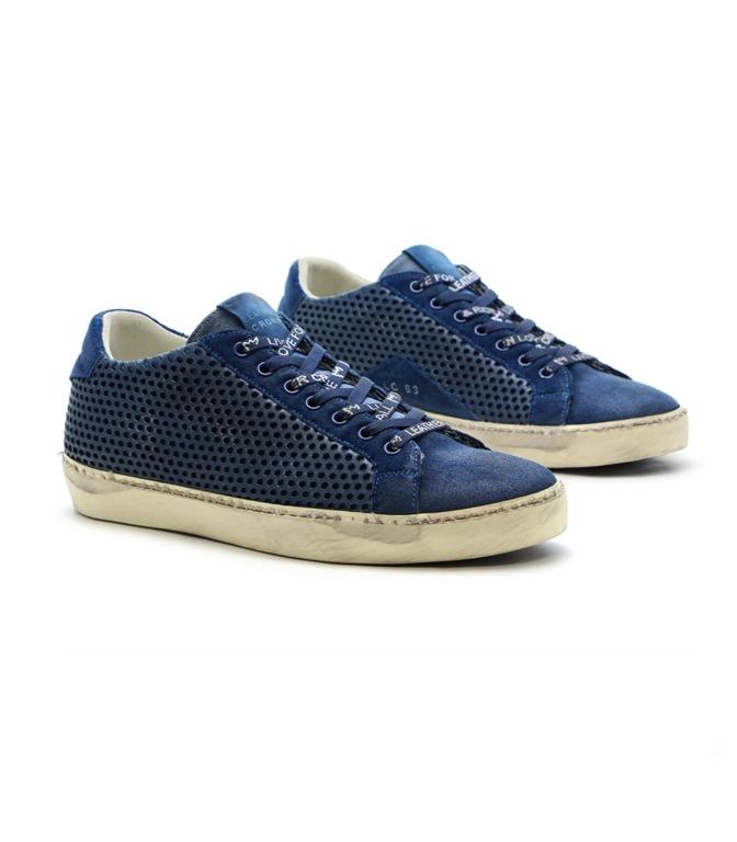 Leather Crown - Scarpe - Sneakers - sneaker mlc83 blu 1