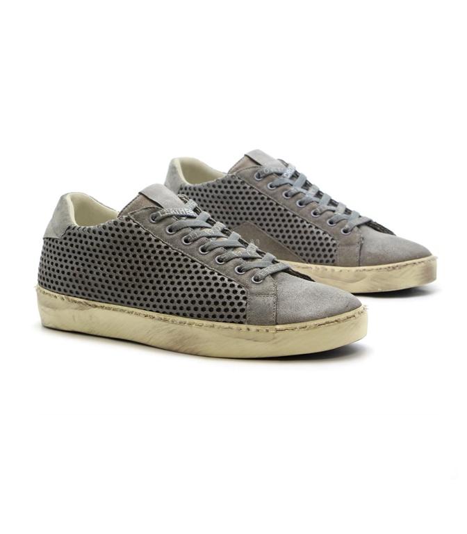 Leather Crown - Outlet - sneaker mlc83 traforata grey 1
