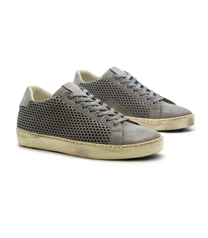 Leather Crown - Saldi - sneaker mlc83 traforata grey 1