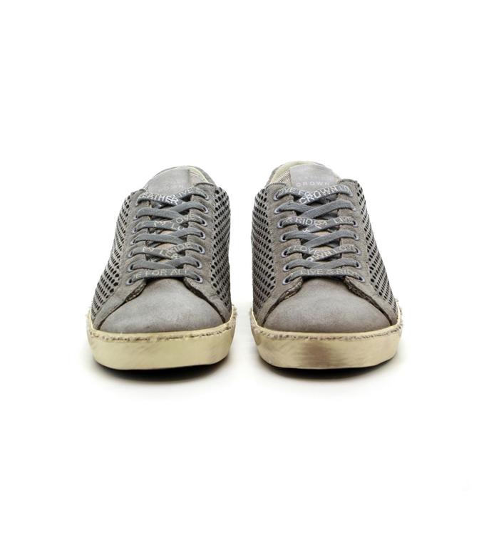 Leather Crown - Outlet - sneaker mlc83 traforata grey 2