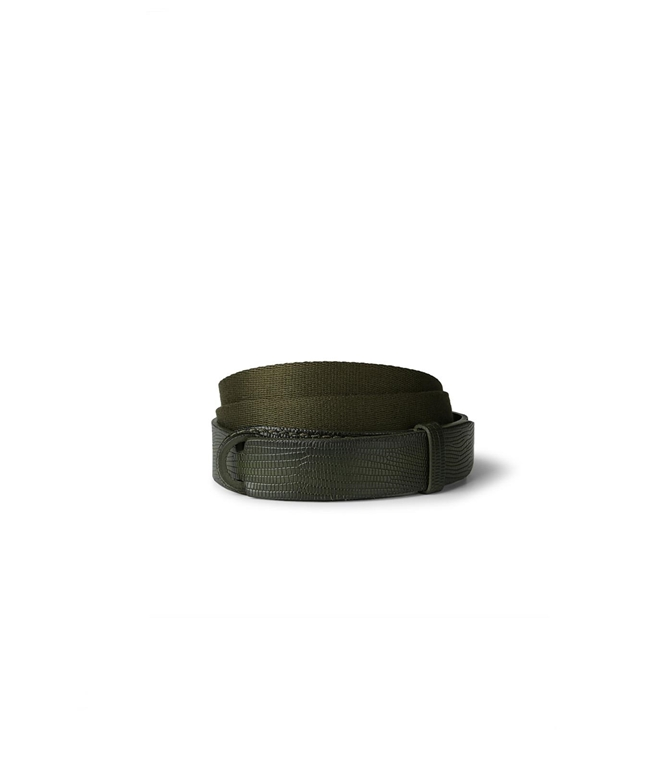"Orciani - Cinture - cintura ""tejus"" in pelle e tessuto militare"