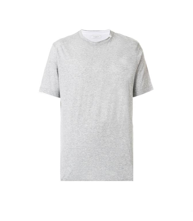 Paolo Pecora - Saldi - t-shirt in cotone grigia