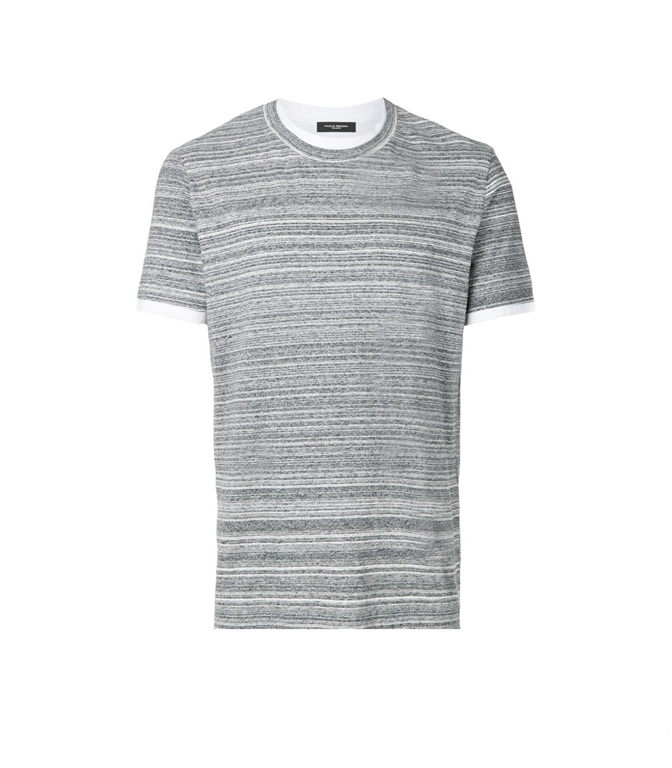 Paolo Pecora - T-Shirt - t-shirt a microrighe melangiata