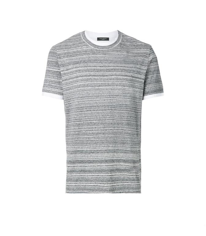 Paolo Pecora - Saldi - t-shirt a microrighe melangiata