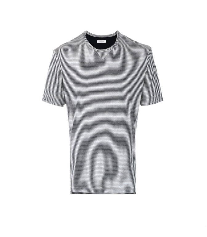 Paolo Pecora - Outlet - t-shirt a microrighe blu/bianca